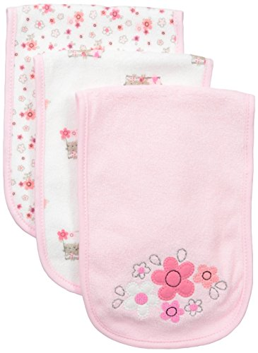 - Gerber Baby Girls 3 Pack Terry Burp Cloth, Lil' Flowers, One Size