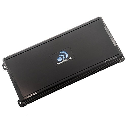 Massive Audio B1500.4 - Car Audio 1,500 Watt, 240w x 4 RMS, Blade Series, 4 Channel Car Amplifier, Bass Boost (Converter Auto Switching 2000 Watt)