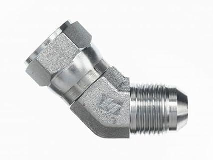 6502 Hydraulic Fitting Elbow 45 Male JIC x Female JIC Swivel Choose Your Size
