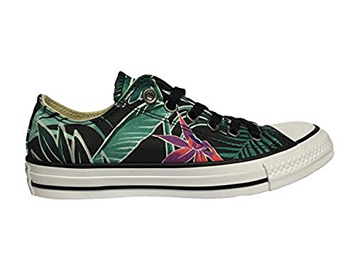7a107f77f9f8 Converse Mens Chuck Taylor All Stars Tropical Print Ox Low Top Canvas  Trainers
