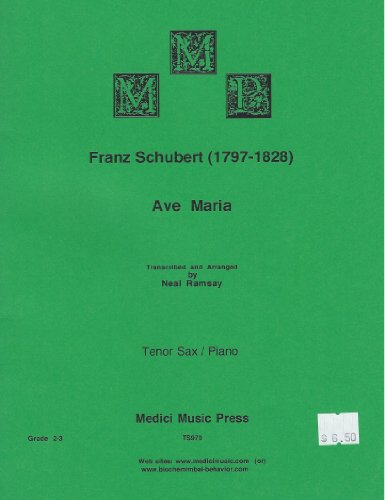 Ave Maria - Tenor Sax and Piano - Schubert / Ramsay TS970