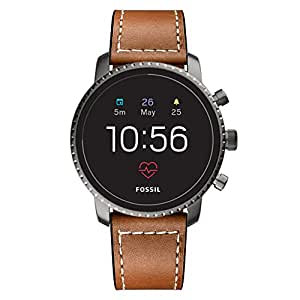 Kartice Compatible with Fossil Gen 4 Q Explorist HR Band, 22mm Fossil Mens Gen 5 Carlyle Leather Band Gen 3 Bands for Fossil Gen SmartWatch (Brown)