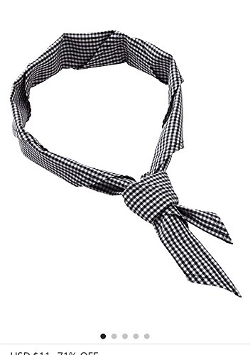 Newshine Unisex Chef Neckerchief Black and White Check by NewShine