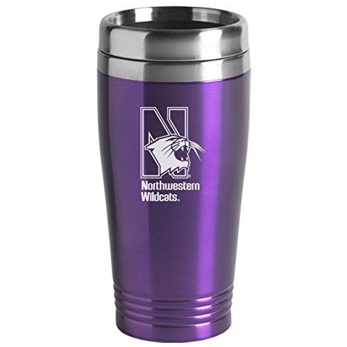 Northwestern University - 16-ounce Travel Mug Tumbler - Purple