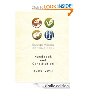 Nazarene Missions International Handbook and Constitution 2009-13 Various