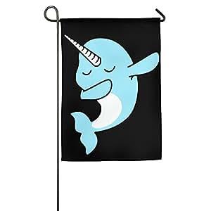 dabbing Narwhal Funny Outdoor/casa bandera de demostración de vacaciones