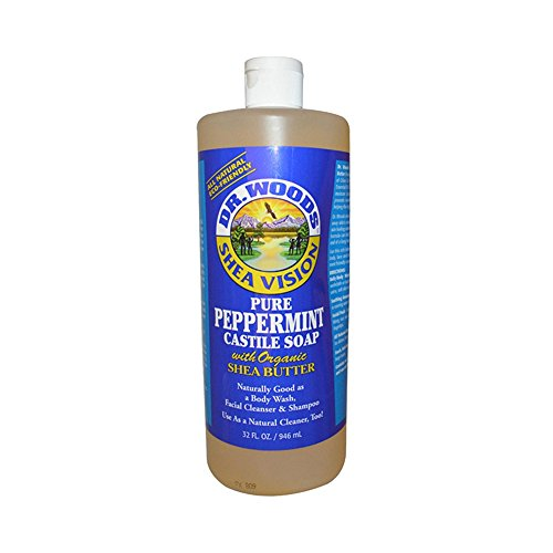 Wholesale Dr. Woods Shea Vision Pure Castile Soap Peppermint with Organic Shea Butter - 32 fl oz, [Health & Beauty, Soaps] (Wholesale Castile Soap)