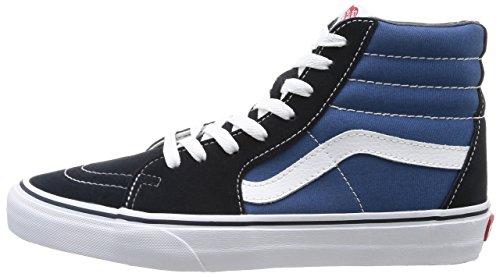 Vans VD5INVY Unisex SK8-Hi Canvas Skate Shoes, Navy/White, 5 B(M) US Women/3.5 D(M) US Men