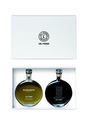 Elegance Barcelona Extra Virgin Olive Oil and Organic Pedro Ximenez Balsamic Vinegar Fine Gift Set