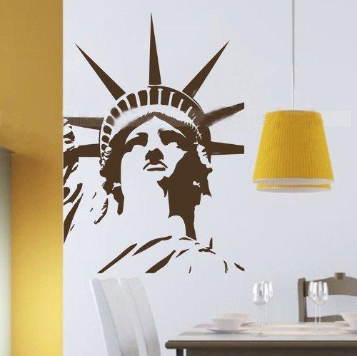 60*45CM Statue of Liberty Superwoman PVC Vinyl Art Wall Sticker Living Room Decals Home Decor Mural Wallpaper S0051