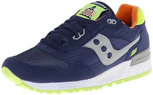 Sneaker Saucony Shadow 5000 in suede e nylon blu Blu/Giallo