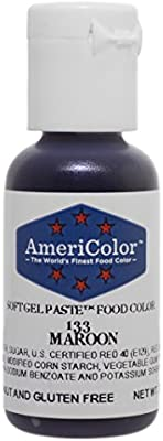 Amazon.com: MAROON .75 Ounce Soft Gel Paste Food Color: Icing ...