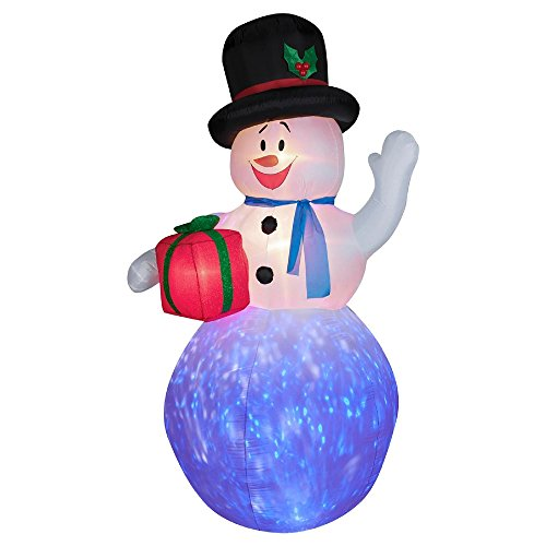 Gemmy Inflateables Holiday 36299 Projection Air Blown Kaleidoscope Snowman Decor