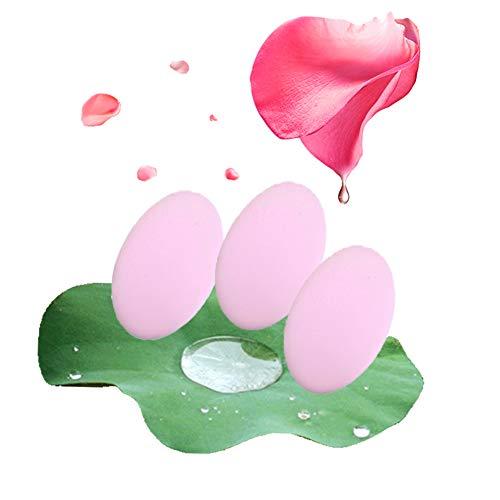 Makeup Sponge Puff, Makeups Sponges for Powder, Makeup Sponge Set, Microfiber Latex Free Soft Comfortable, for Use with Liquids Concealer And Cream Cosmetics,Pink3Pieces