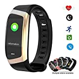 Smart Watch Color Touchscreen 2018 Newest Special Edition Bluetooth Sport Band with Heart Rate & Blood Pressure & GPS Sleep Monitor Fitness Activity Tracker, Android iOS