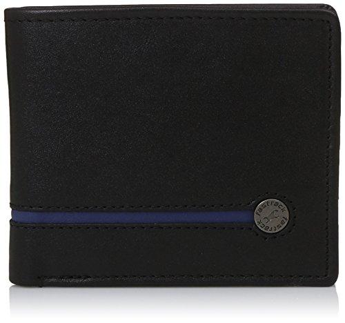 Fastrack Black and Blue Men's Wallet (C0368LBK01)