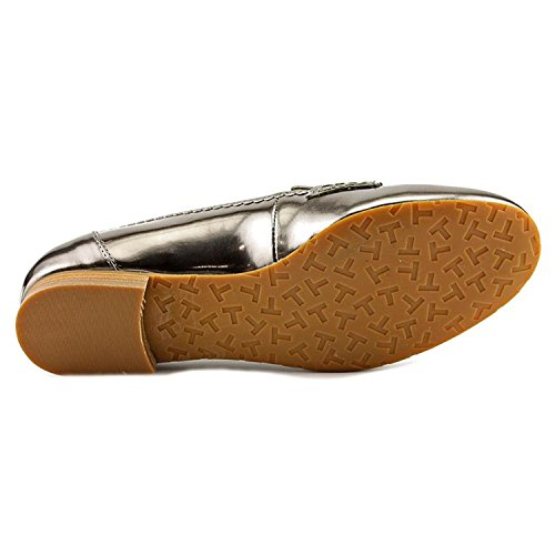 Tahari Womens Closed Toe Womens Tahari Jada Leather Ta Pewter Loafers RpqwaSWnT