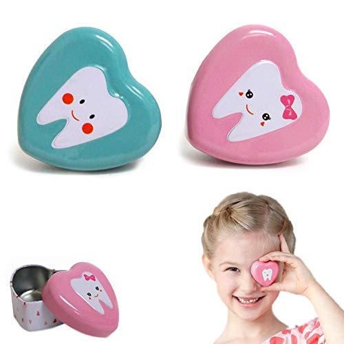 2 Pack Tooth Fairy Box Treasure Under Pillow Keepsake Boys Girls Children Gifts (Treasure Tooth Box)