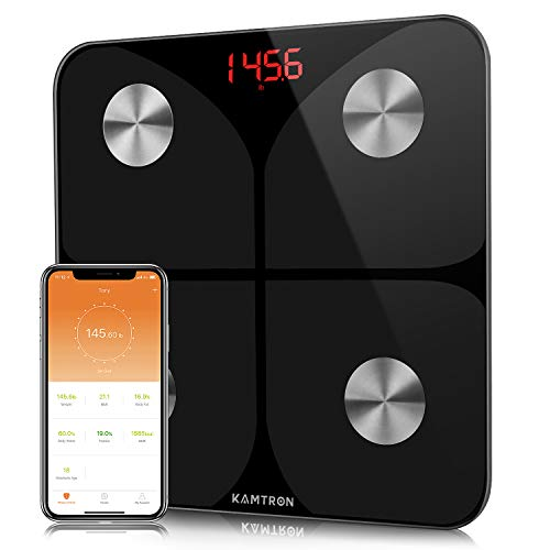 KAMTRON Weighing Body Fat Scales - Bathroom Scales Body Composition Analyzer Monitor,...