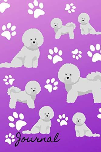 Journal-Gratitude-Journal-6×9-100-Pages-Bichon-Frise-Dog-Purple