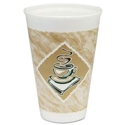 Hot Foam (Dart 16X16G Café G Foam Hot/Cold Cups, 16oz, White w/Brown & Green (Case of 1000))