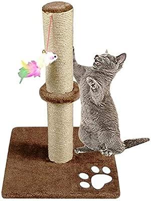 Morezi - Rascador para Gatos de 50 cm de Alto con Cuerda de sisal ...