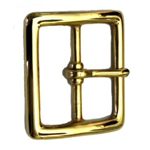 CHAMBERS BELT COMPANY Garrison Belt Buckle - Center Bar Square - Gold Finish - 1.75-inch (Buckle Garrison)
