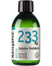 Naissance Organic Golden Jojoba Oil 8.5fl oz - Pure & Natural, UK Certified Organic, Unrefined, Vegan, Hexane Free, No GMO - Ideal as a Massage Base Oil - Moisturizes & Conditions Hair & Skin
