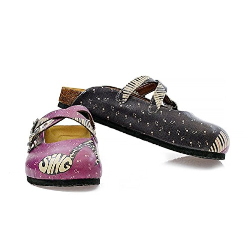 UK Black Clogs Music CAL113 amp; Purple Goby 8gqOH7waOx