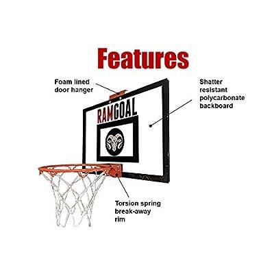 RAMgoal Mini Basketball Hoop Door Mounted: Toys & Games