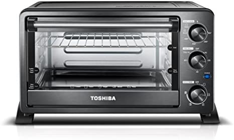 Toshiba MC25CEY-BS Convection Oven Black Stainless Steel 6-Slice Bread//12-Inch Pizza