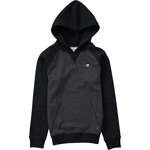 Billabong Black Sweatshirt (Billabong Big Boys' Balance Pullover Hoody, Black Heather, L)
