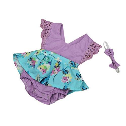 Fabal-Baby-Kids-Girls-Bodysuit-Tutu-Romper-Jumpsuit-Outfits-Clothes-Lot