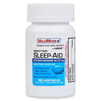 ValuMeds Nighttime Sleep Aid (192 Softgels) Diphenhydramine HCl, 50 mg | Supports Deeper, Restful Sleeping for Men, Women (Compare to Active Ingredient in Unisom SleepGels)