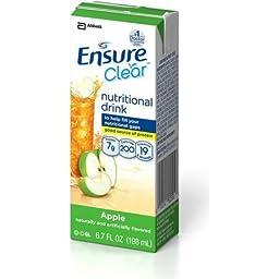 Ensure Clear (Enlive), Apple, 6.75oz - Case of 32