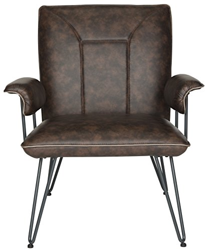 Safavieh Home Collection Johannes Antique Brown Arm Chair, Purple