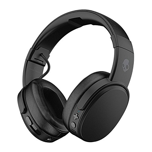 (Skullcandy Crusher Bluetooth Wireless Over-Ear Headphone with Microphone, Noise Isolating Memory Foam, Adjustable and Immersive Stereo Haptic Bass, Rapid Charge 40-Hour Battery Life, Black)