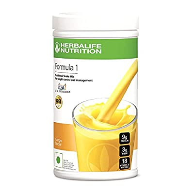 Herbalife Formula 1 Shake Nutritional Mix - 500 Grams - Healthy F1 Nutritional Meal Replacement Protein Powder Diet - Weight Loss Supplements for Men and Women