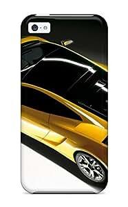 Fashionable RLRKvUE5154lWgpv Iphone 5c Case Cover For Lamborghini Gallardo Yellow Grey Black White Cars Lamborghini Protective Case