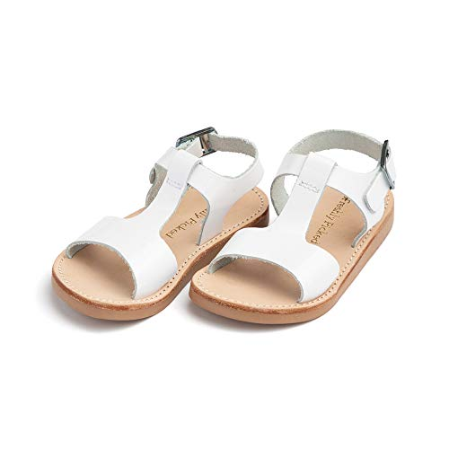Freshly Picked - Malibu Little Girl Boy Leather Sandals - Size 13 White Patent