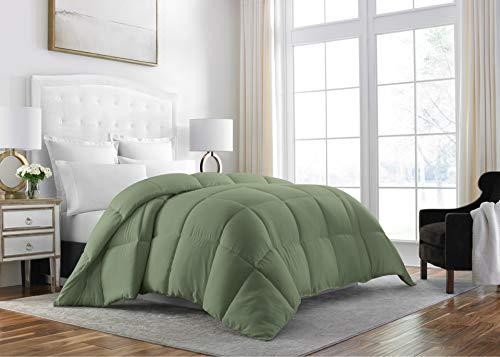 Sleep Restoration Down Alternative Comforter 1400 Series - Best Hotel Quality Hypoallergenic Duvet Insert Bedding - Queen - Sage ()