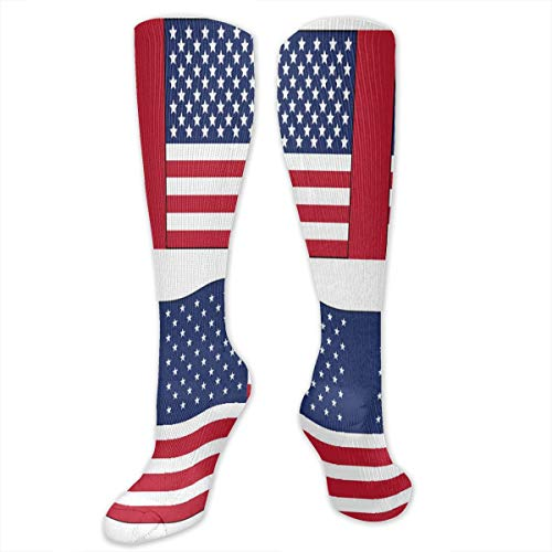 Compression Socks American Flag Printables Womens Winter Sock Decoration Tight Stocking For Girls Men Boys Teen
