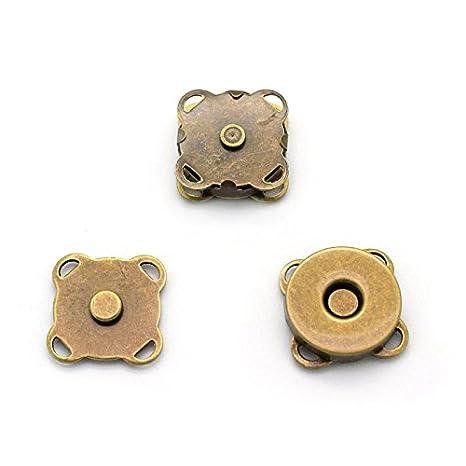 RUBY-10 conjuntos Cierre magnético para bolsos (15x15mm-B ...
