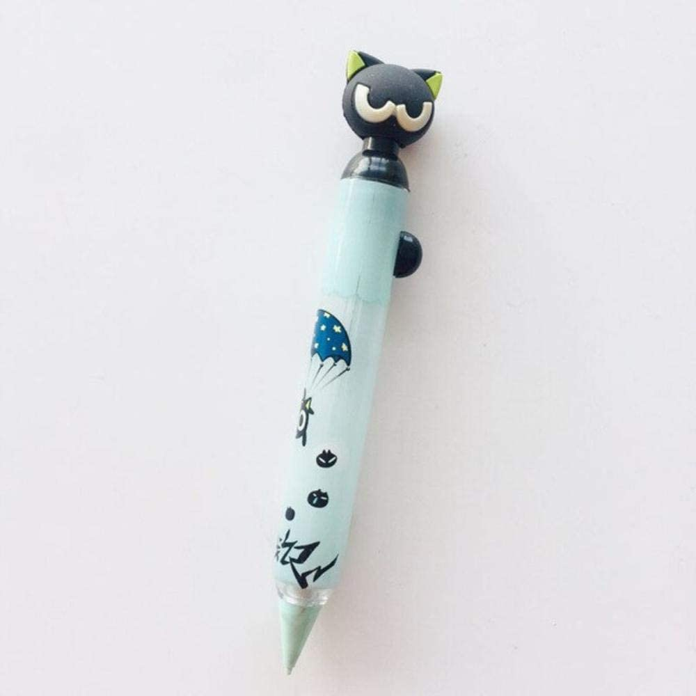 1X Super Cute Little Black Cat Side Mechanical Pencils School Office Supply Student Stationery 0.5mm A