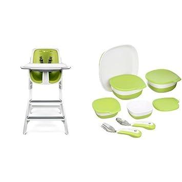 Prime Amazon Com 4Moms White Green High Chair With Starter Kit Ncnpc Chair Design For Home Ncnpcorg