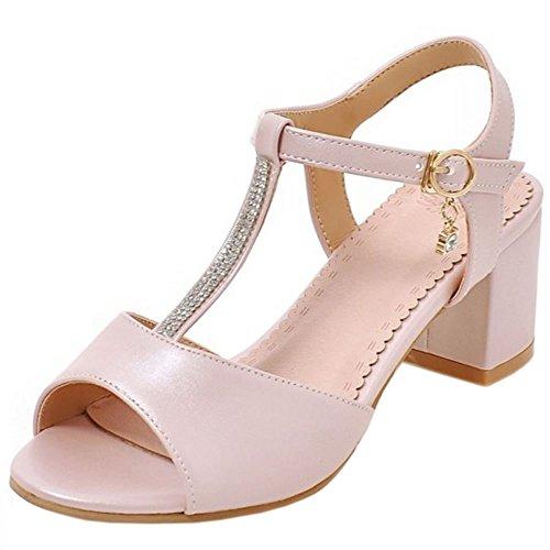 Donna Zanpa 1 Tacco Basso pink Sandali Sweet gxFAwfq4