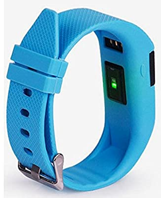 UPGRADED: Active Gear Waterproof Activity - Fitness Tracker with Heart Rate Monitor, Calorie Counter, Sleep Tracker, Pedometer, Alarm, Reminder, Bluetooth 4.0 (Blue) TW64S