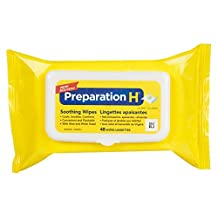 Preparation H Hemorrhoidal Soothing Wipes with Aloe & Witch Hazel, 48 Wipes