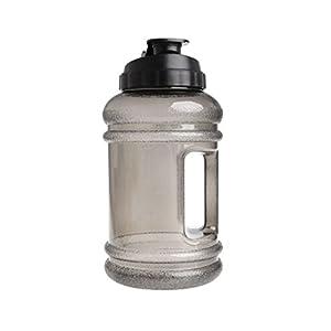 Sinwo 2.2L ! Big Large BPA Free Sport Gym Training Water Bottle Cap Kettle Workout (Black)