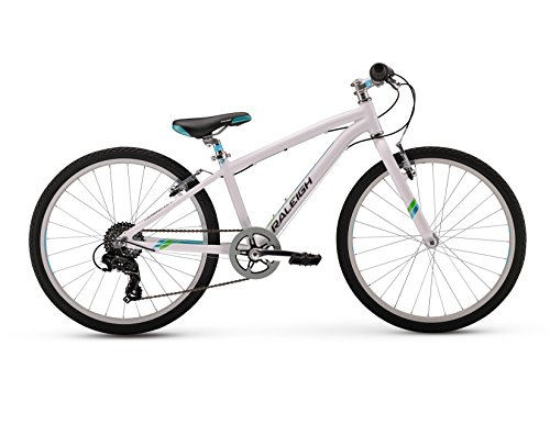 Raleigh Bikes Girls Alysa 24 Urban Fitness Bike, 24'/One Size, White